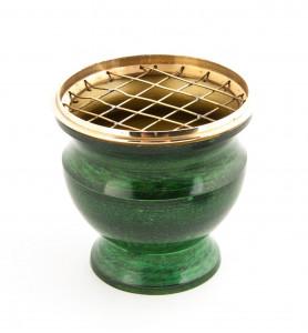 Encensoir Metal Emaillé Vert