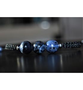 Bracelet Sodalite et Argent...