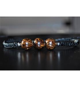 Bracelet Bronzite et Argent...